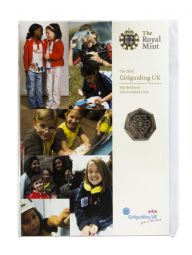 2010 50p 100th Anniversary Of Girl Guides Uncirculated Coin Pack for sale